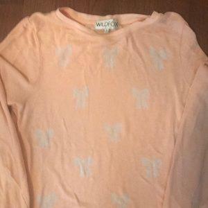 WILDFOX peach sweatshirt